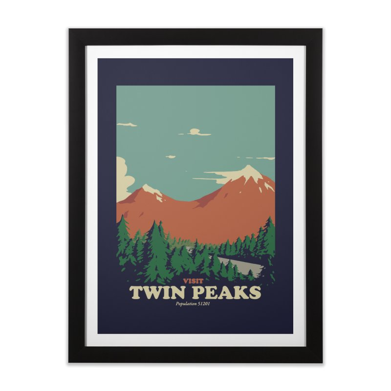 Visit Twin Peaks Home Framed Fine Art Print by mathiole