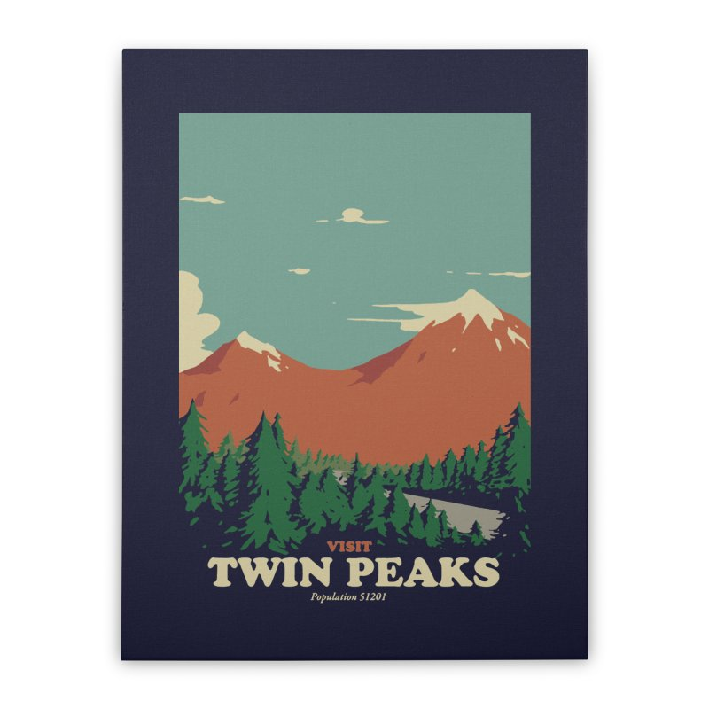 Visit Twin Peaks Home Stretched Canvas by mathiole