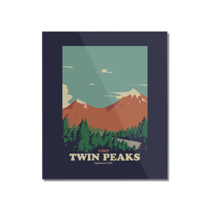 Visit Twin Peaks Home Mounted Acrylic Print by mathiole