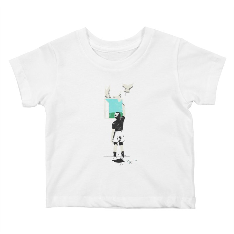 Exit Kids Baby T-Shirt by mathiole