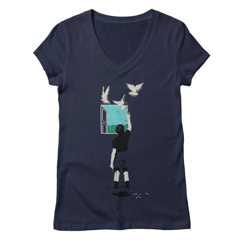 Exit Women's V-Neck by mathiole