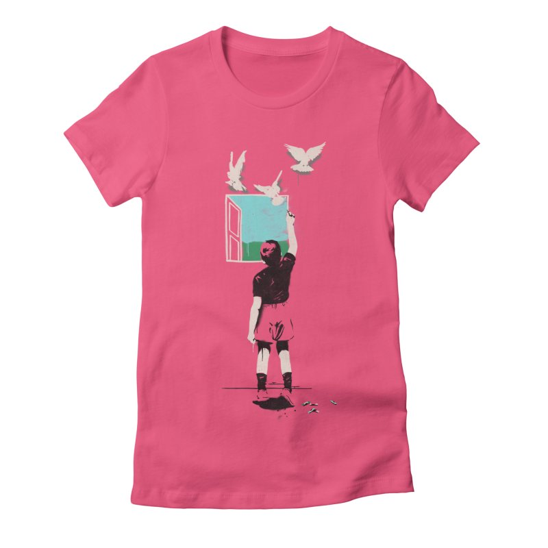 Exit Women's Fitted T-Shirt by mathiole