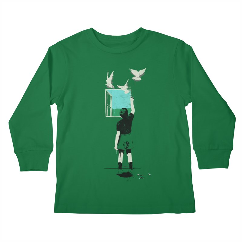 Exit Kids Longsleeve T-Shirt by mathiole