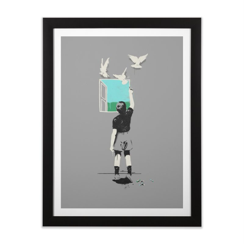 Exit Home Framed Fine Art Print by mathiole