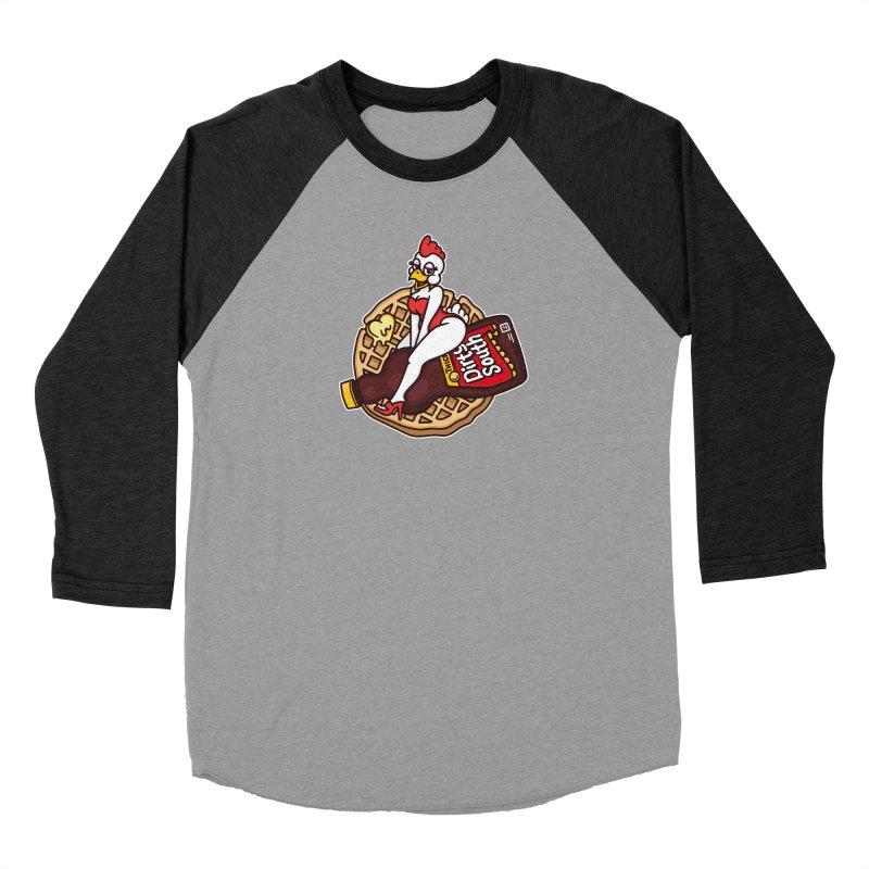 Waffle Bomber Men's Baseball Triblend Longsleeve T-Shirt by MattAlbert84's Apparel Shop