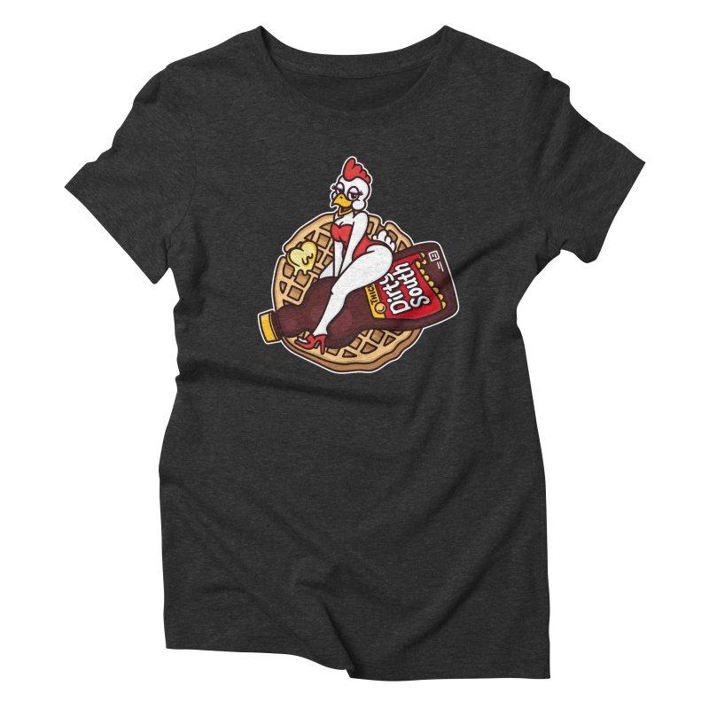Waffle Bomber Women's Triblend T-Shirt by MattAlbert84's Apparel Shop