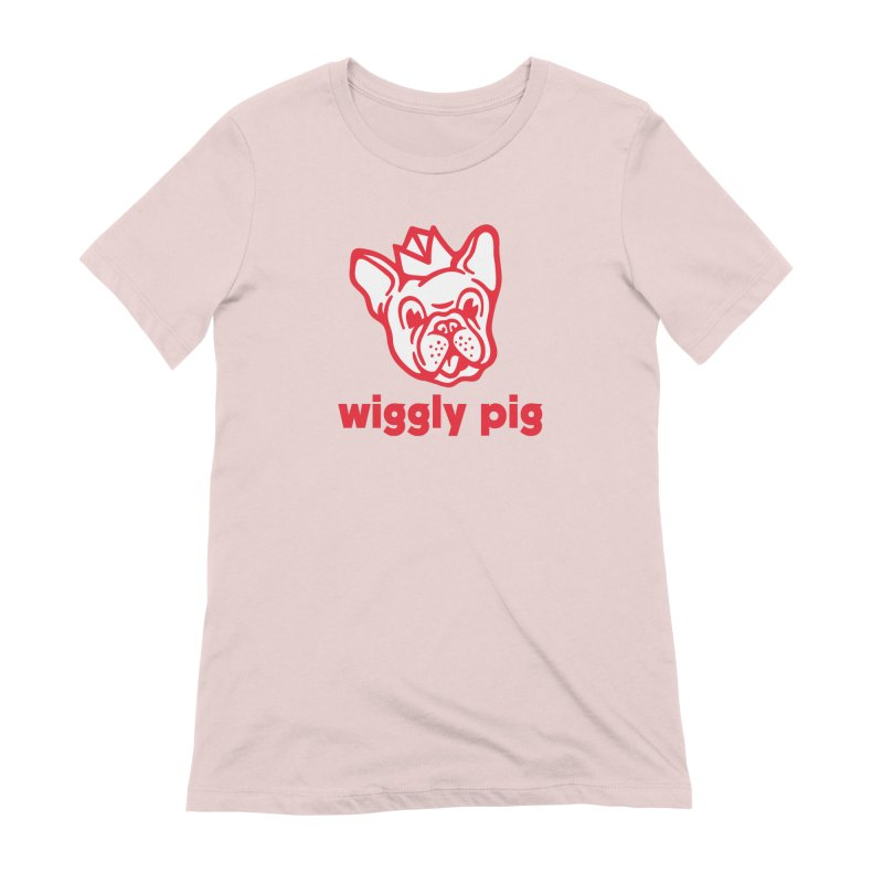 Wiggly Pig Women's Extra Soft T-Shirt by MattAlbert84's Apparel Shop