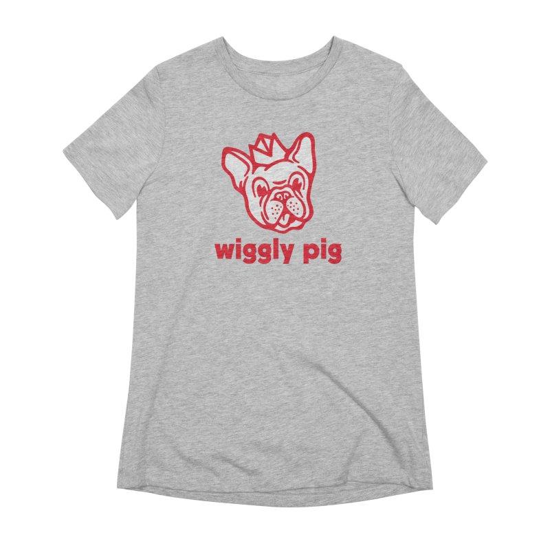 Wiggly Pig Women's Extra Soft T-Shirt by MattAlbert84's Apparel Shop