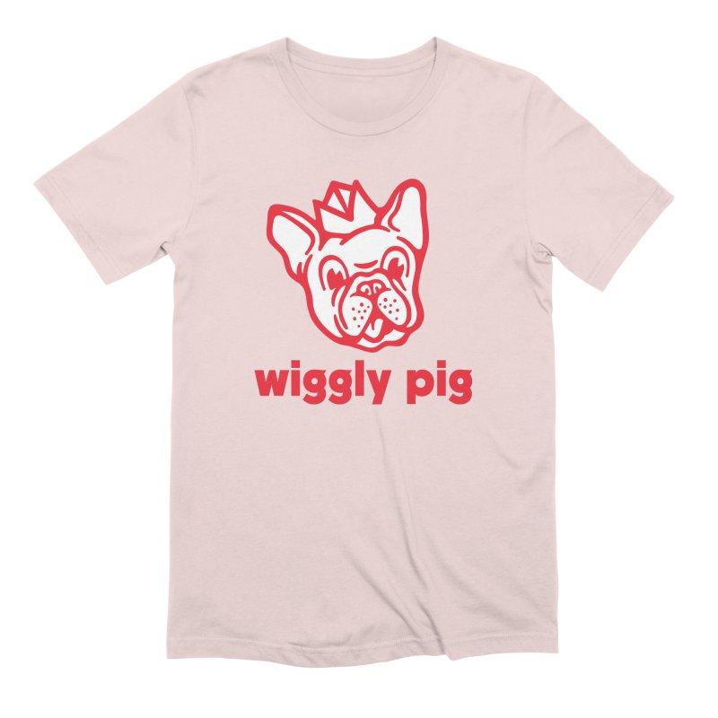 Wiggly Pig Men's Extra Soft T-Shirt by MattAlbert84's Apparel Shop