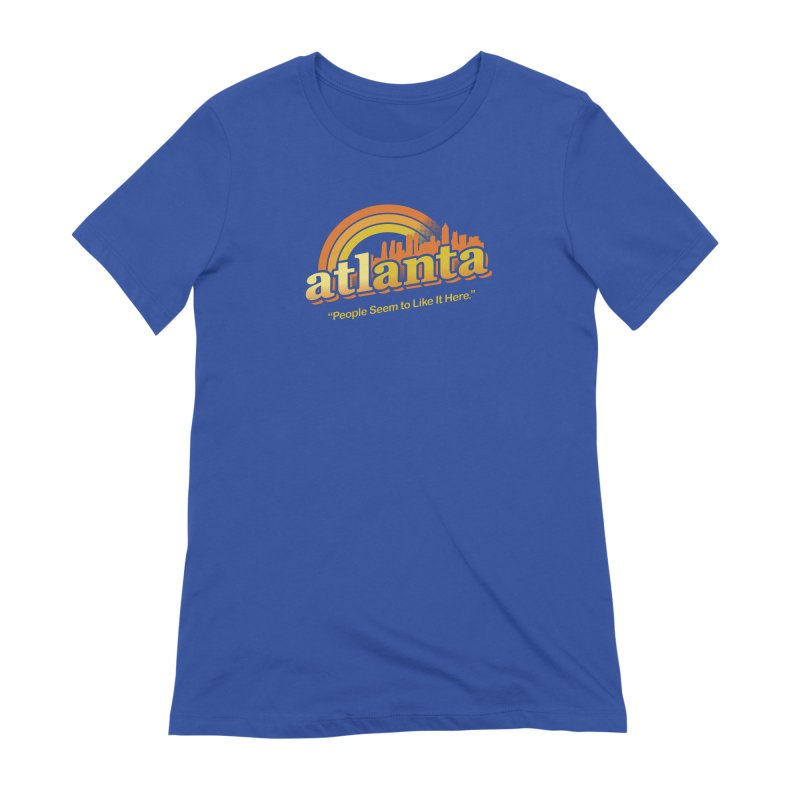 People Seem to Like It Here Women's Extra Soft T-Shirt by MattAlbert84's Apparel Shop