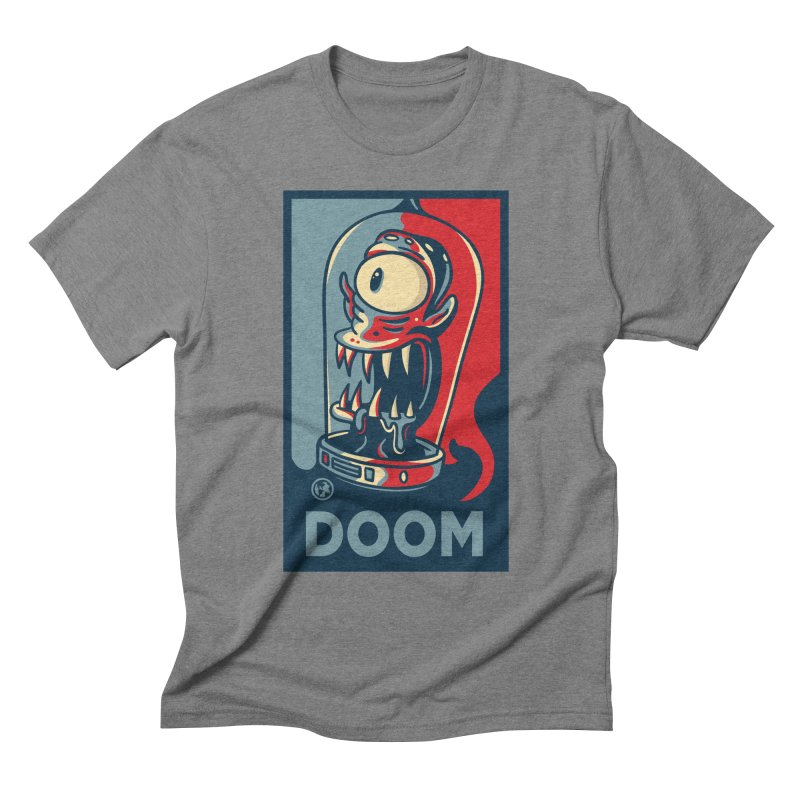DOOM in Men's Triblend T-shirt Grey Triblend by MattAlbert84's Apparel Shop