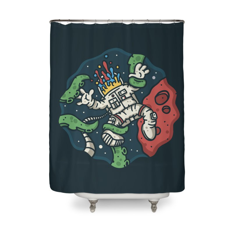 Lost In Space Home Shower Curtain by MattAlbert84's Apparel Shop