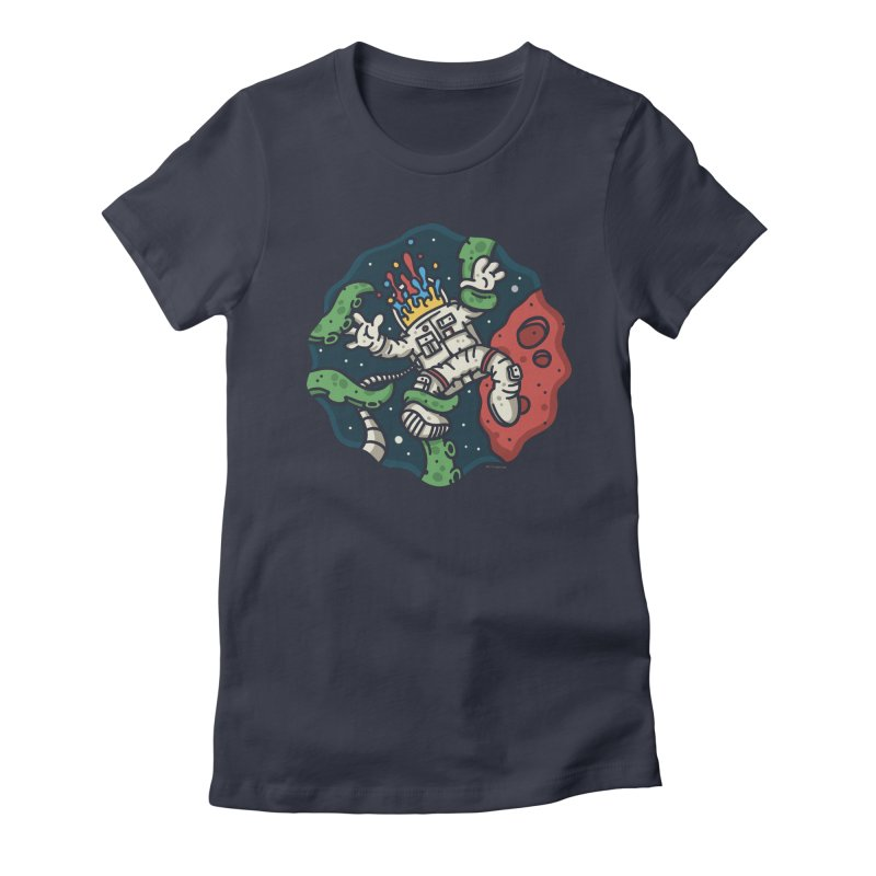Lost In Space Women's Fitted T-Shirt by MattAlbert84's Apparel Shop