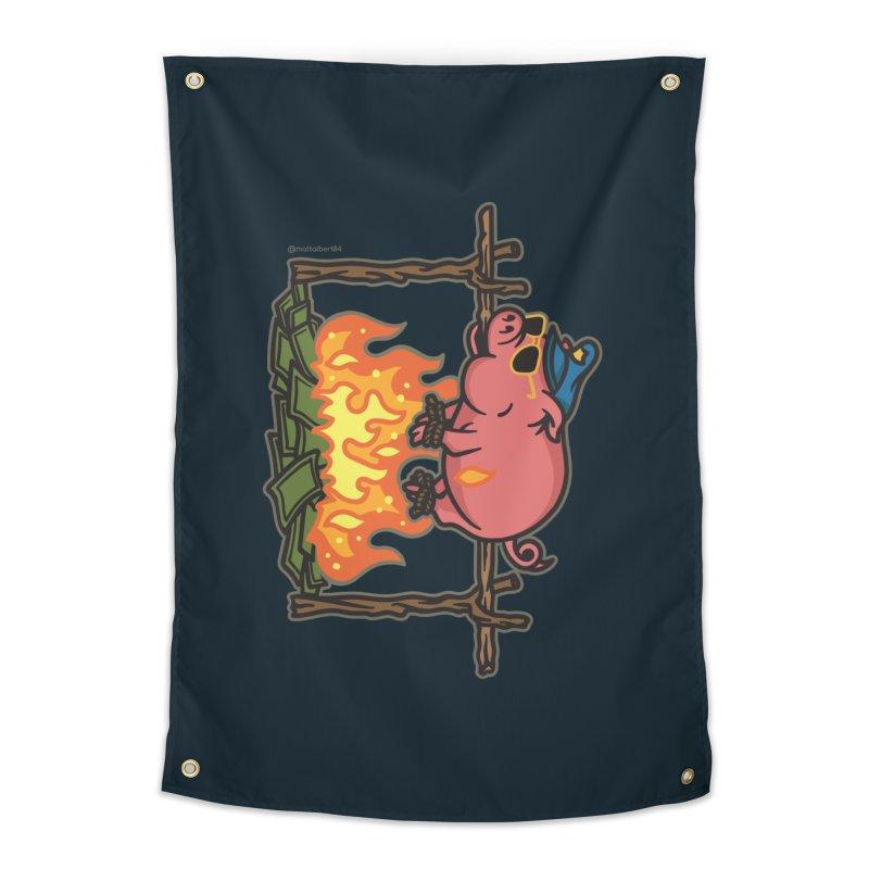 Pig Roast Home Tapestry by MattAlbert84's Apparel Shop