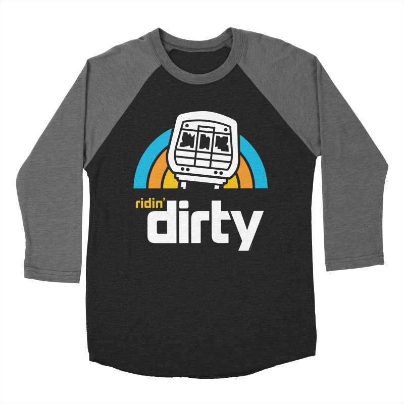 Ridin' Dirty Men's Baseball Triblend T-Shirt by MattAlbert84's Apparel Shop