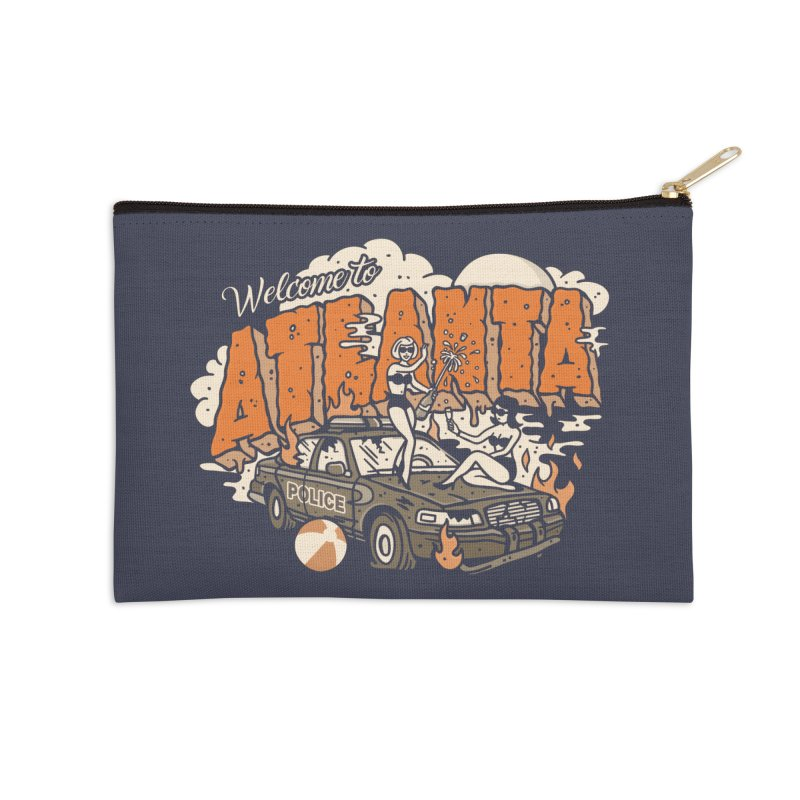 Welcome to Atlanta Accessories Zip Pouch by MattAlbert84's Apparel Shop