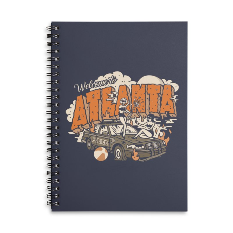 Welcome to Atlanta Accessories Lined Spiral Notebook by MattAlbert84's Apparel Shop