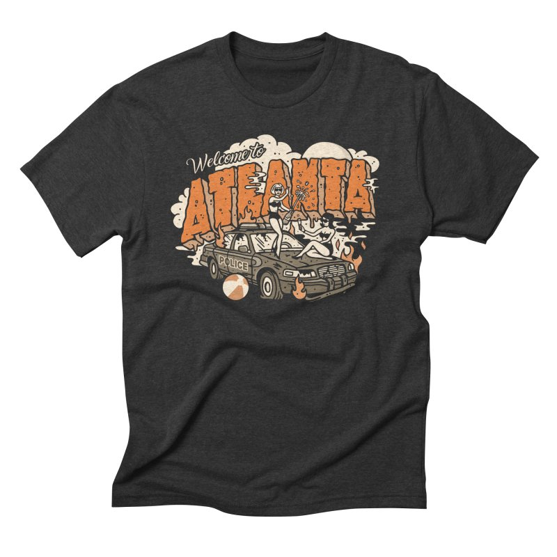 Welcome to Atlanta in Men's Triblend T-Shirt Heather Onyx by MattAlbert84's Apparel Shop