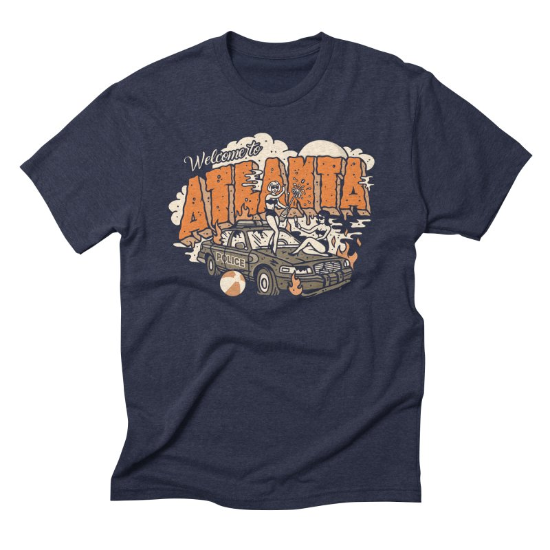 Welcome to Atlanta in Men's Triblend T-Shirt Navy by MattAlbert84's Apparel Shop