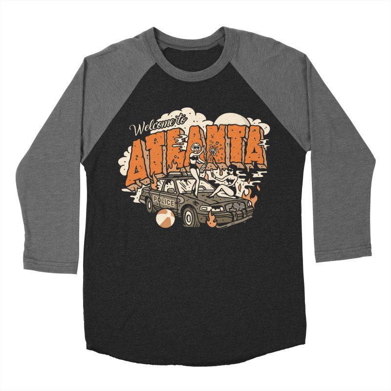 Welcome to Atlanta Women's Baseball Triblend Longsleeve T-Shirt by MattAlbert84's Apparel Shop
