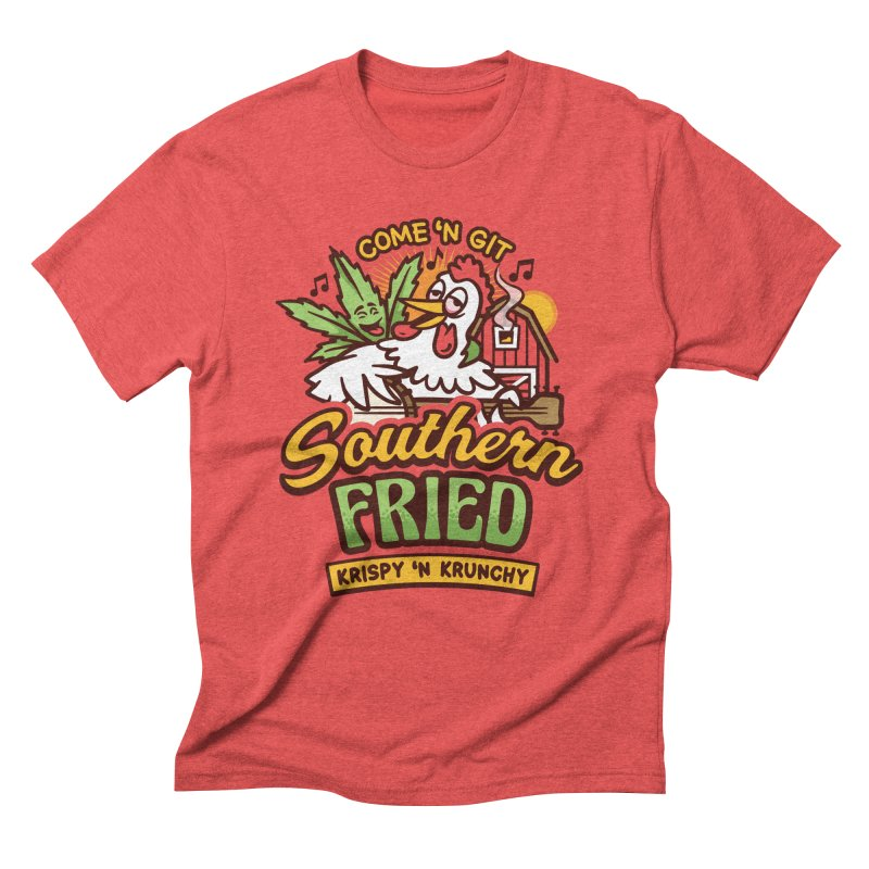Southern Fried in Men's Triblend T-Shirt Chili Red by MattAlbert84's Apparel Shop