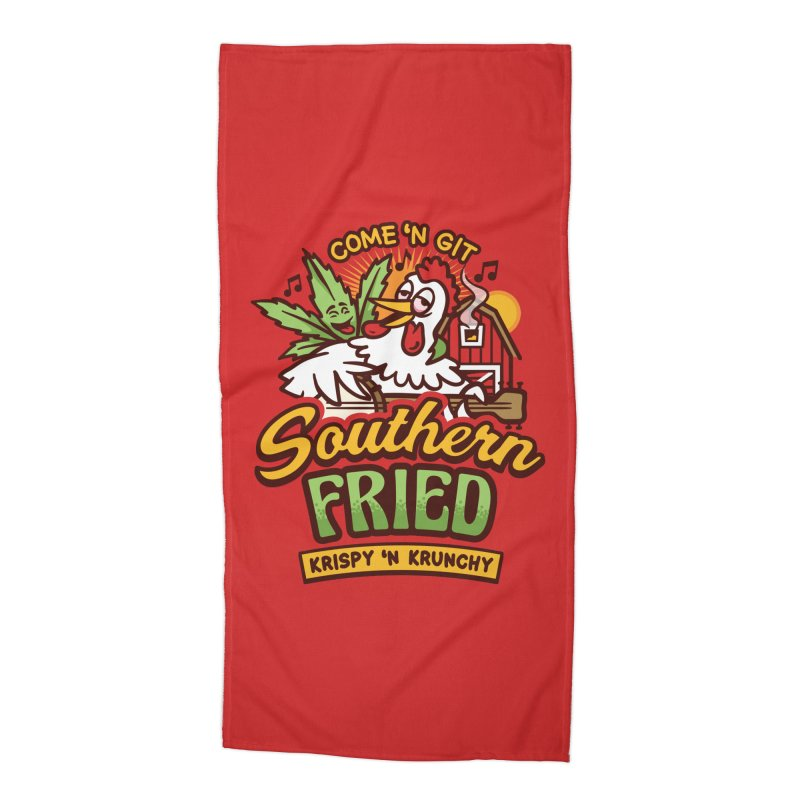 Southern Fried Accessories Beach Towel by MattAlbert84's Apparel Shop