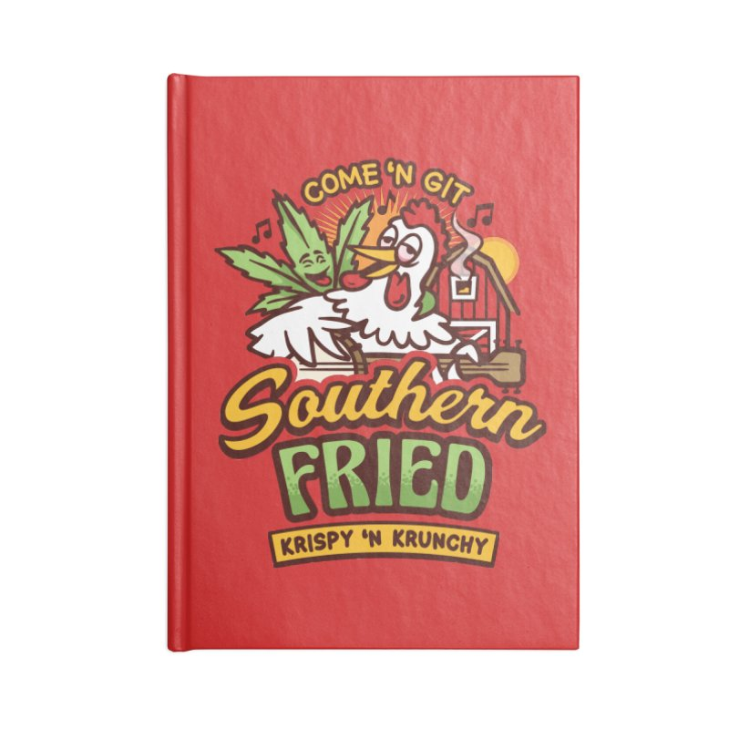 Southern Fried Accessories Lined Journal Notebook by MattAlbert84's Apparel Shop
