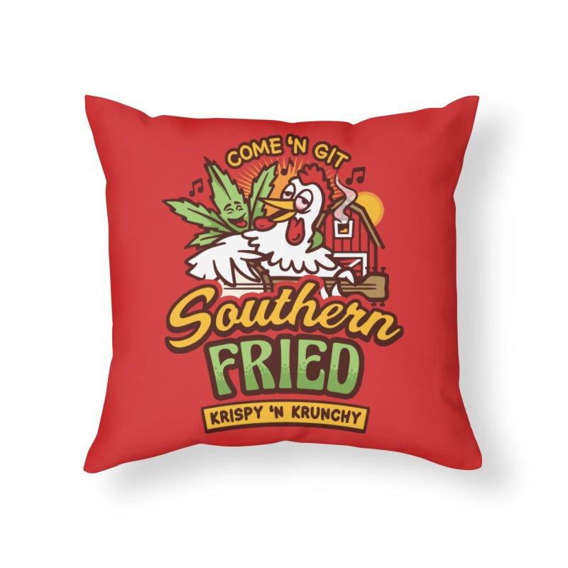 Southern Fried Home Throw Pillow by MattAlbert84's Apparel Shop