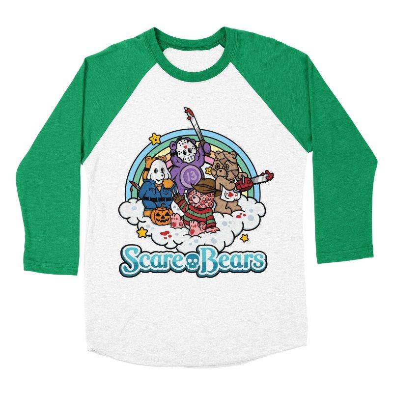 Scare-Bears Men's Baseball Triblend T-Shirt by MattAlbert84's Apparel Shop