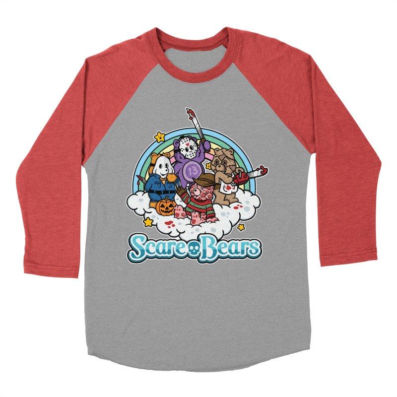 Scare-Bears Men's Baseball Triblend Longsleeve T-Shirt by MattAlbert84's Apparel Shop