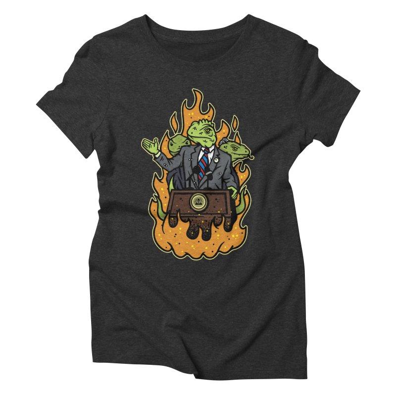 Lizard People Women's Triblend T-shirt by MattAlbert84's Apparel Shop