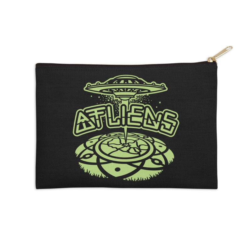 ATLiens (Mono) Accessories Zip Pouch by MattAlbert84's Apparel Shop