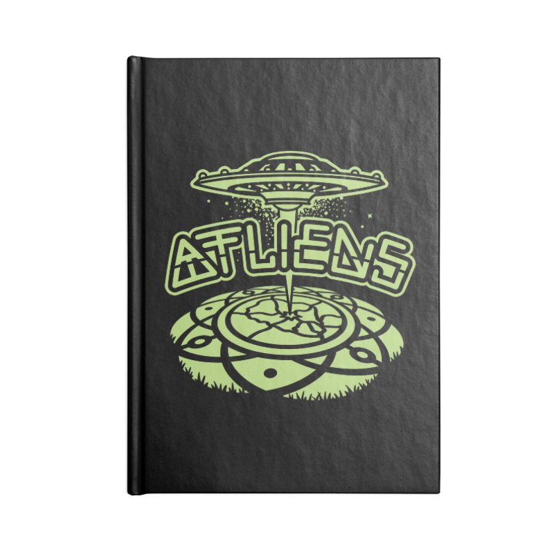 ATLiens (Mono) Accessories Lined Journal Notebook by MattAlbert84's Apparel Shop