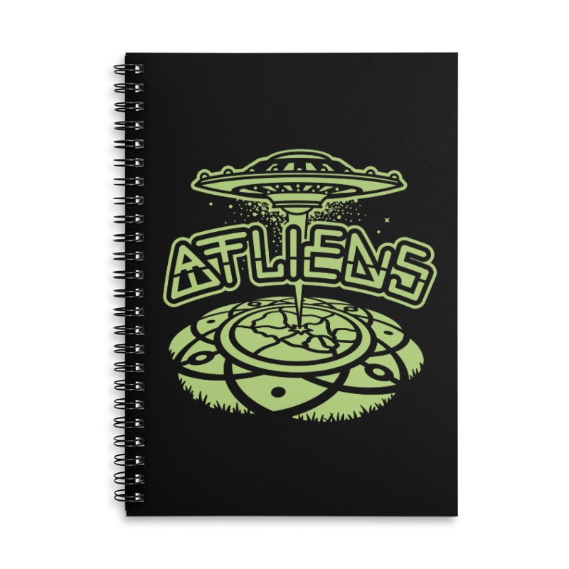 ATLiens (Mono) Accessories Lined Spiral Notebook by MattAlbert84's Apparel Shop