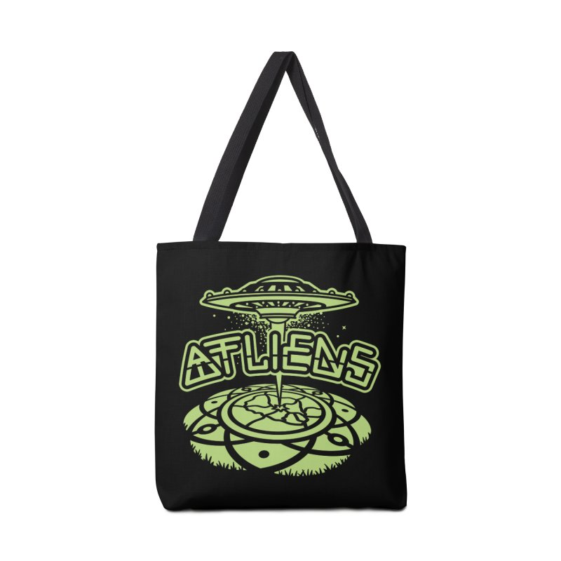 ATLiens (Mono) Accessories Tote Bag Bag by MattAlbert84's Apparel Shop