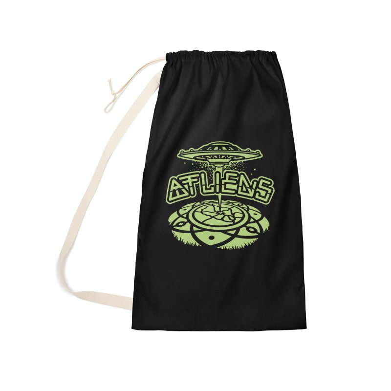 ATLiens (Mono) Accessories Laundry Bag Bag by MattAlbert84's Apparel Shop