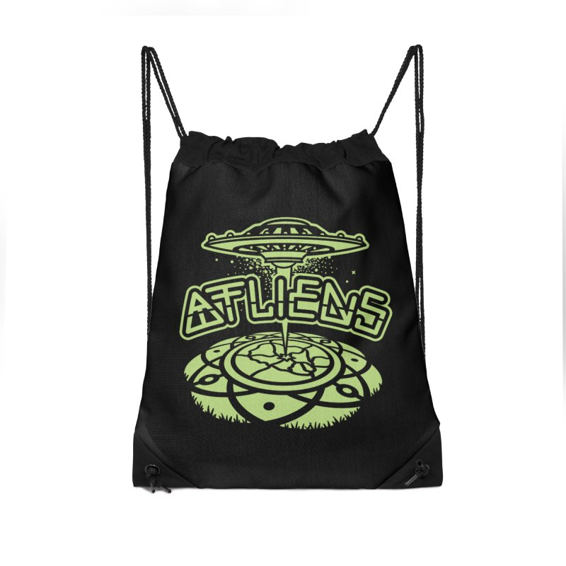 ATLiens (Mono) Accessories Drawstring Bag Bag by MattAlbert84's Apparel Shop