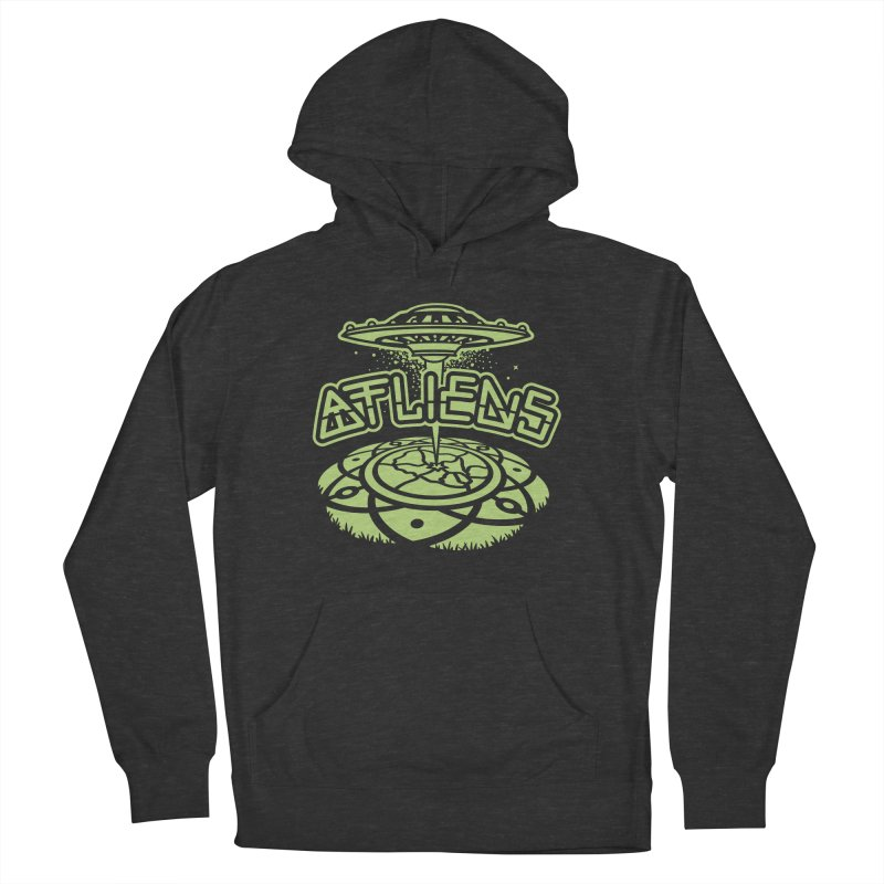 ATLiens (Mono) Men's French Terry Pullover Hoody by MattAlbert84's Apparel Shop