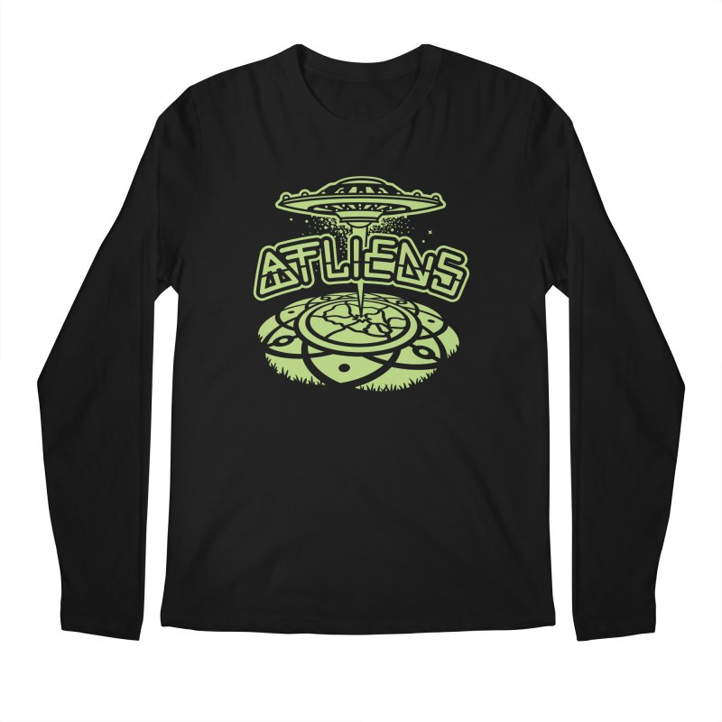 ATLiens (Mono) Men's Regular Longsleeve T-Shirt by MattAlbert84's Apparel Shop