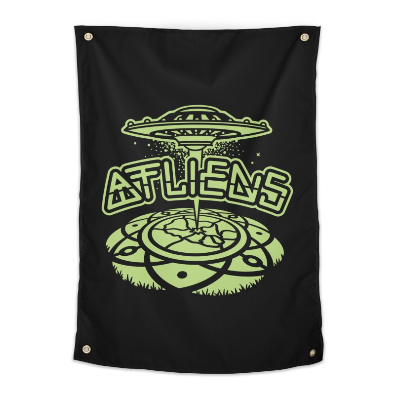 ATLiens (Mono) Home Tapestry by MattAlbert84's Apparel Shop