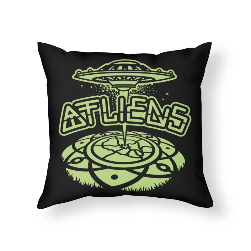 ATLiens (Mono) Home Throw Pillow by MattAlbert84's Apparel Shop