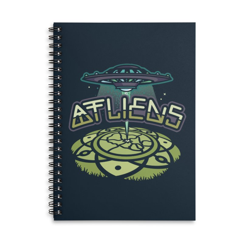 ATLiens (Color) Accessories Lined Spiral Notebook by MattAlbert84's Apparel Shop