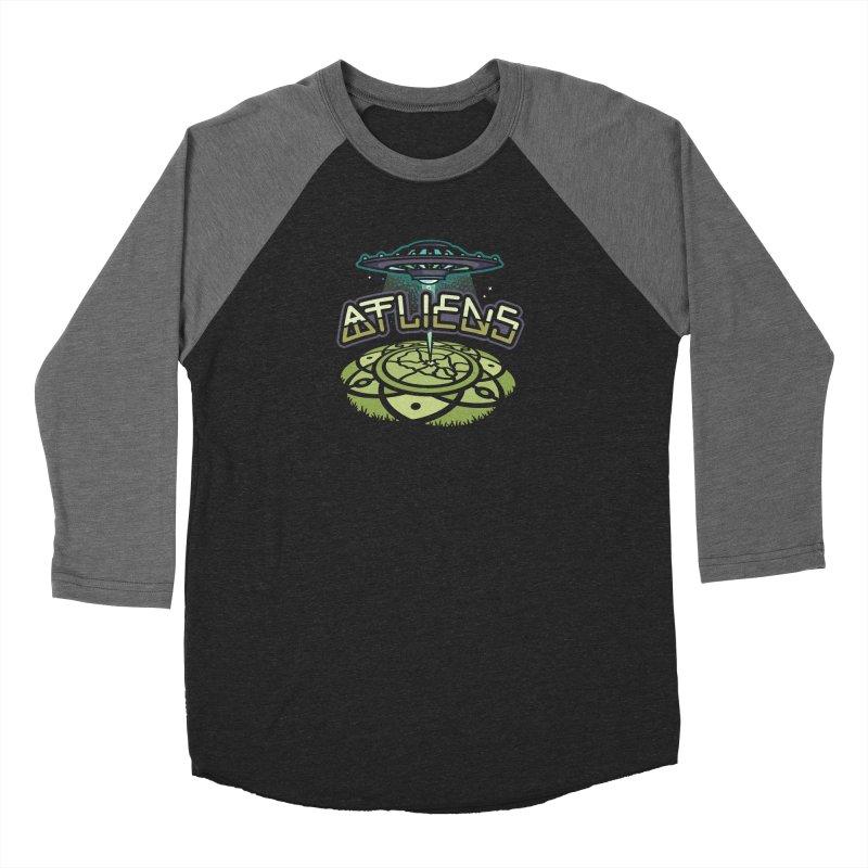 ATLiens (Color) Men's Baseball Triblend Longsleeve T-Shirt by MattAlbert84's Apparel Shop