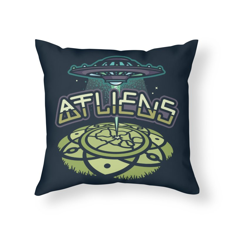 ATLiens (Color) Home Throw Pillow by MattAlbert84's Apparel Shop