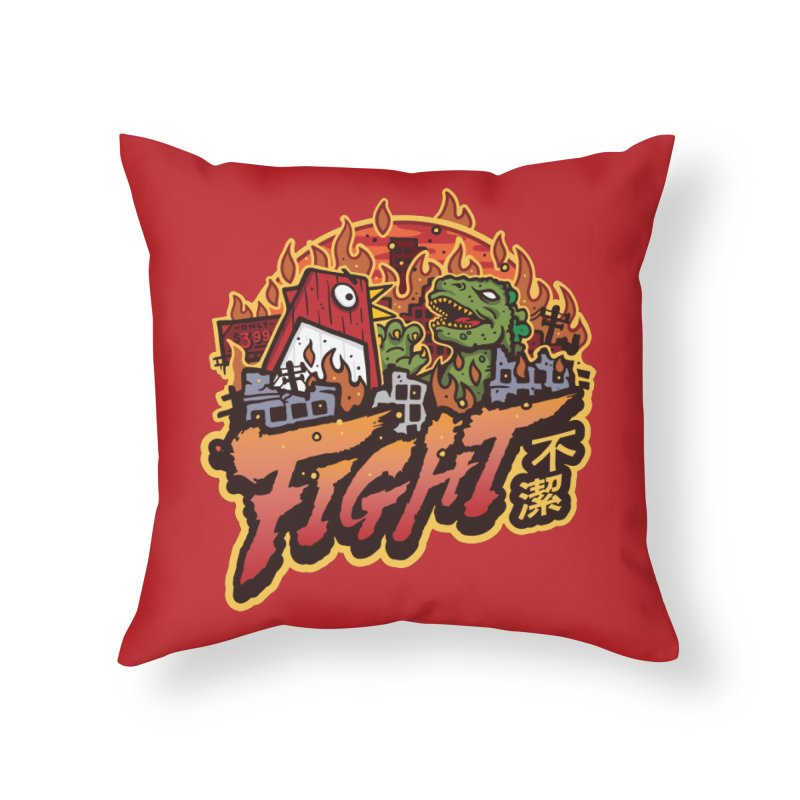 Territorial Dispute Home Throw Pillow by MattAlbert84's Apparel Shop