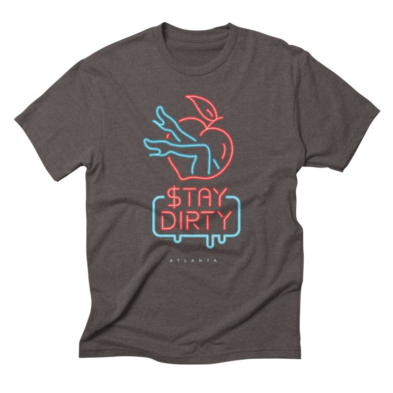 Stay Dirty Neon Men's T-Shirt by MattAlbert84's Apparel Shop