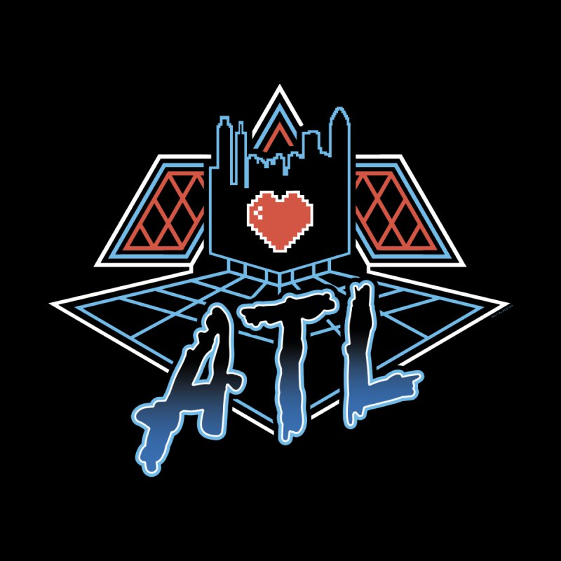 ATL Alive Men's Baseball Triblend T-Shirt by MattAlbert84's Apparel Shop