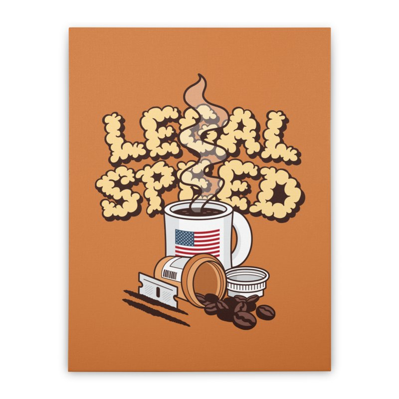 Legal Speed Home Stretched Canvas by MattAlbert84's Apparel Shop