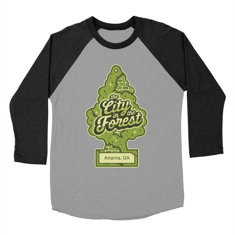 Atlanta - The City in the Forest Women's Baseball Triblend Longsleeve T-Shirt by MattAlbert84's Apparel Shop