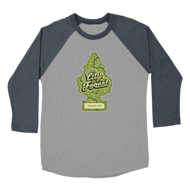 Atlanta - The City in the Forest Men's Baseball Triblend Longsleeve T-Shirt by MattAlbert84's Apparel Shop